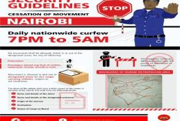 SECURITY GUIDELINES ON THE CESSATION OF MOVEMENT IN THE NAIROBI METROPOLITAN AREA