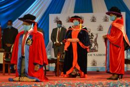 Prof. Kiama formally Installed as VC